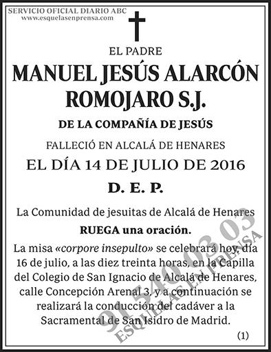 Manuel Jesús Alarcón Romojaro S.J.